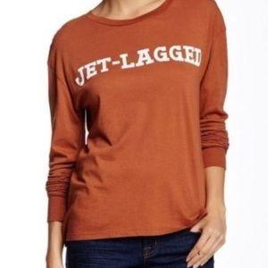 WILDFOX JET-LAGGED long sleeve medium tee